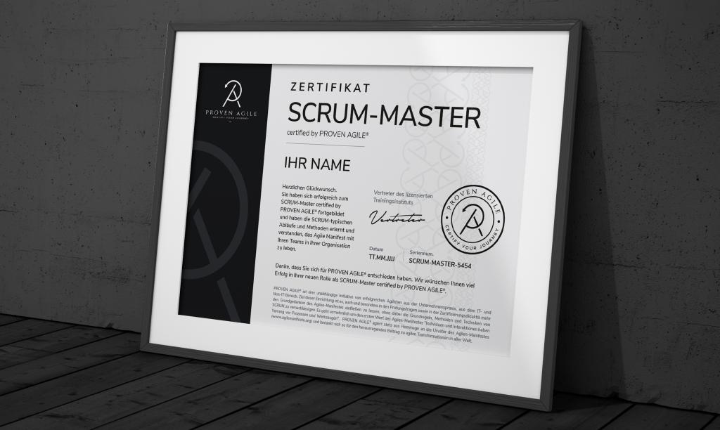 Scrum Master Zertifizierung Zertifikat